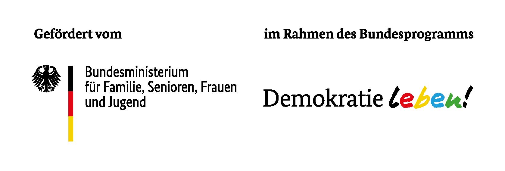 Logos BMFSFJ_Demokratue Leben