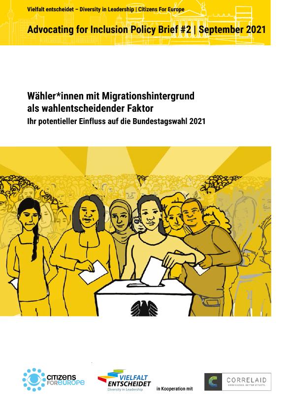Titelbild Publikation Menschen mit Migrationshintergrund als wahlentscheidender Faktor