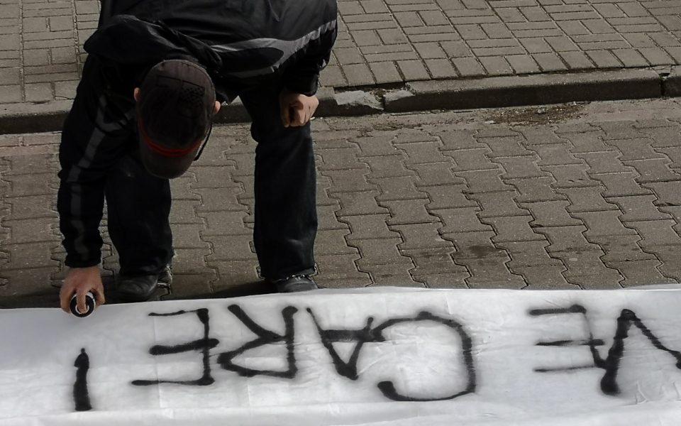 Street activist in Poland
