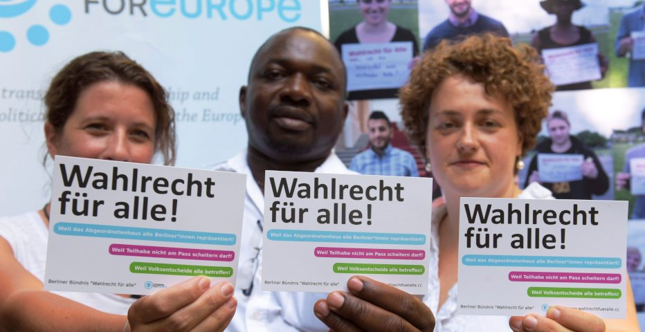 Voting Rights For All Coalition in berlin - Campaign 2016